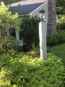 Granite Post, Gardens, Ornamental Planting, Bennington