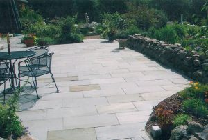 Bluestone Patio Landscape Design, Peterborough NH